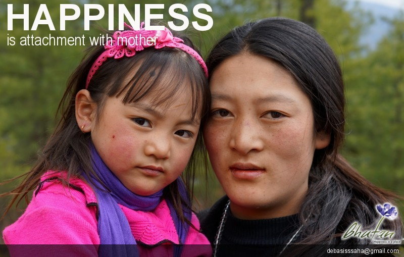 Happiness is attachment with mother