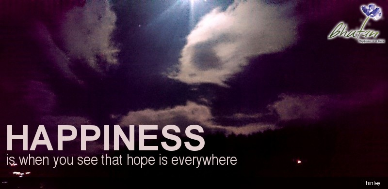 Happiness is when you see that hope is everywhere