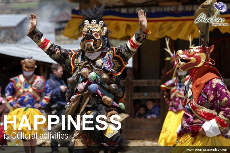 Happiness is Cultural activities