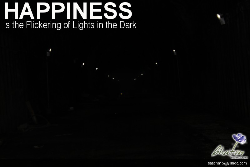 Happiness is the Flickering of Lights in the Dark