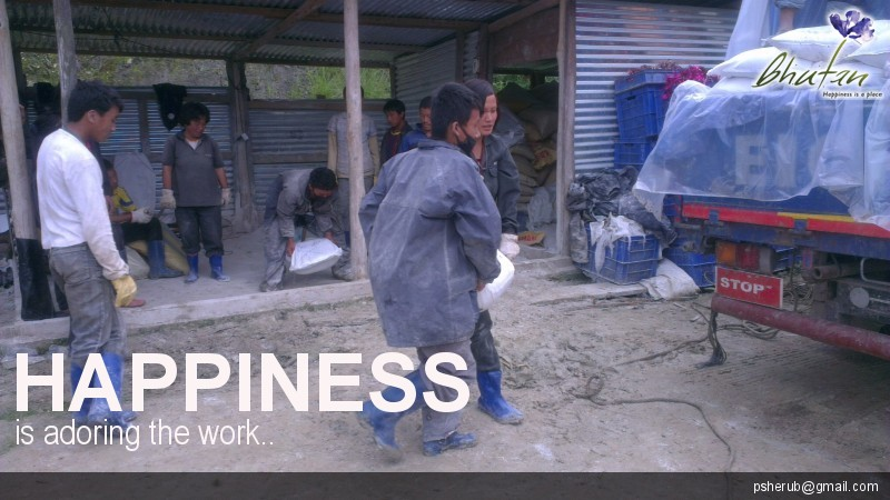 Happiness is adoring the work..