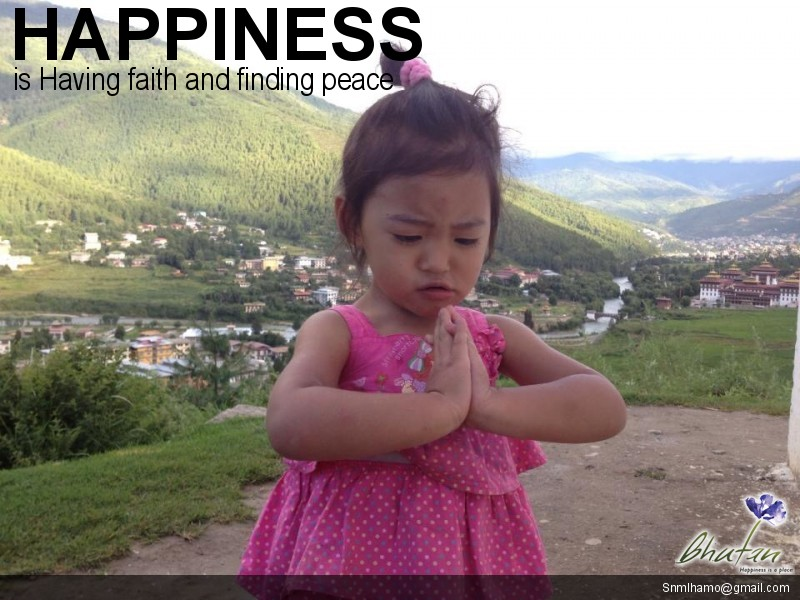 Happiness is Having faith and finding peace