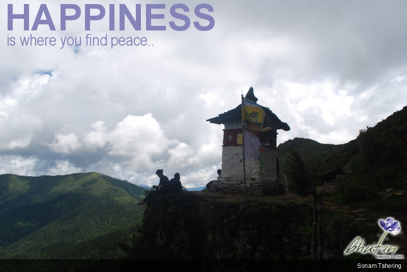 Happiness is where you find peace..