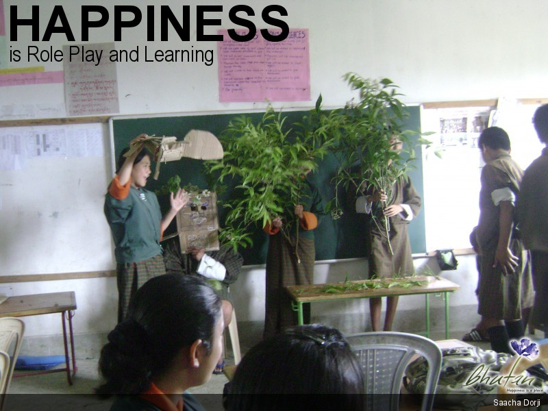 Happiness is Role Play and Learning