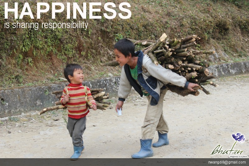 Happiness is sharing responsibility