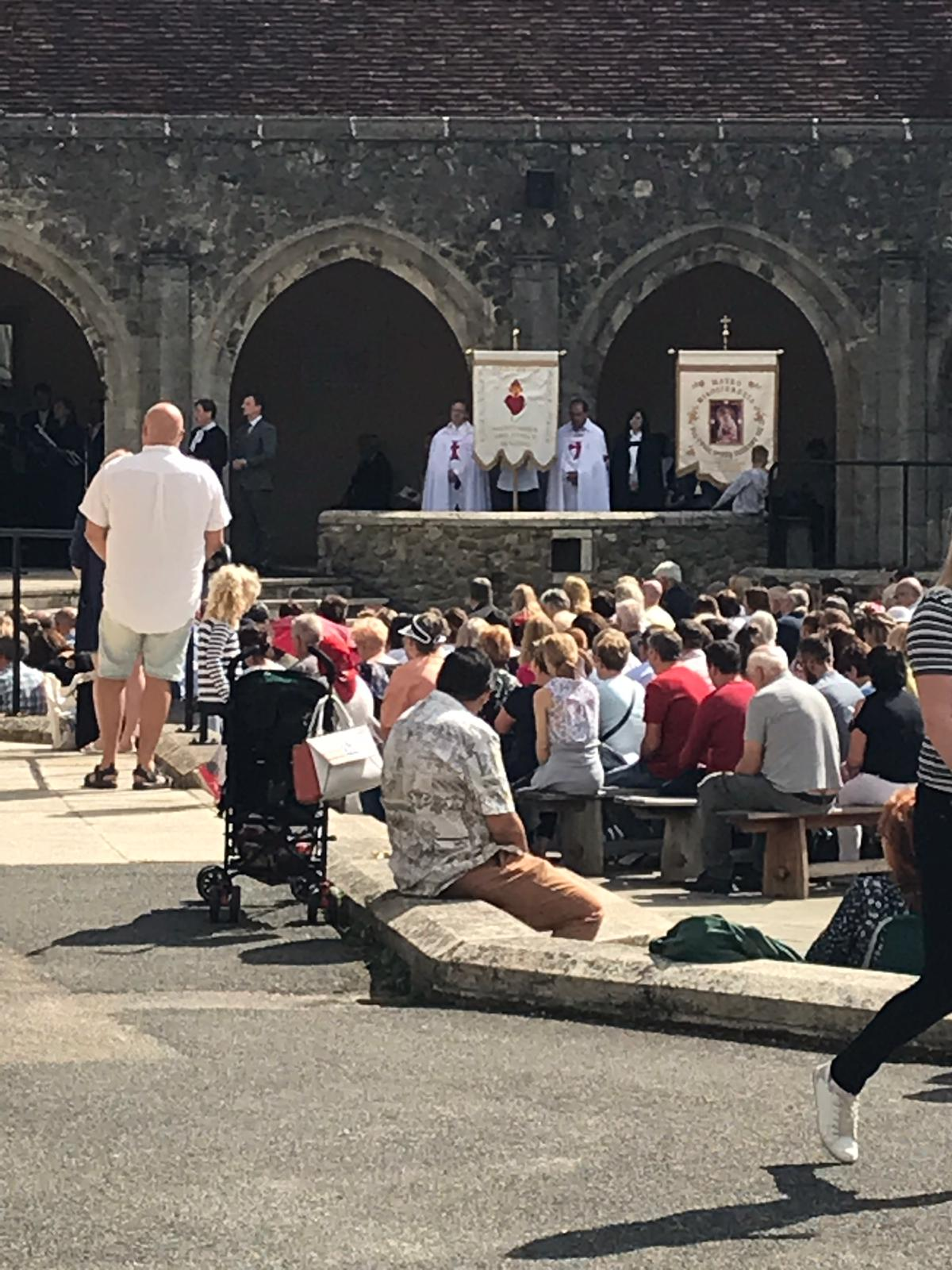 Presence during Holy Mass and Pilgrimage to Aylesford