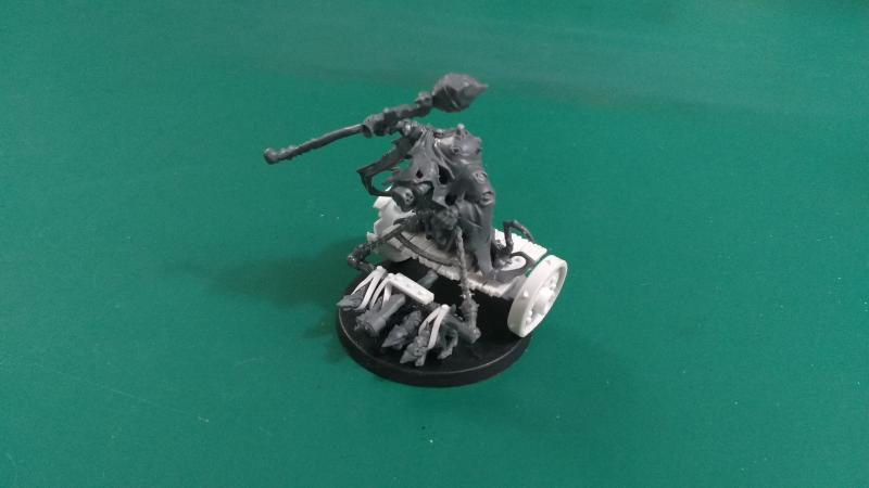 Plague Priest on Rat Chariot Unpainted
