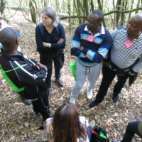 Abdelali Belghiti, Léonard Ntakarutimana (de dos), Murielle Surquin, Aloys Zongo et Serge Mayaka