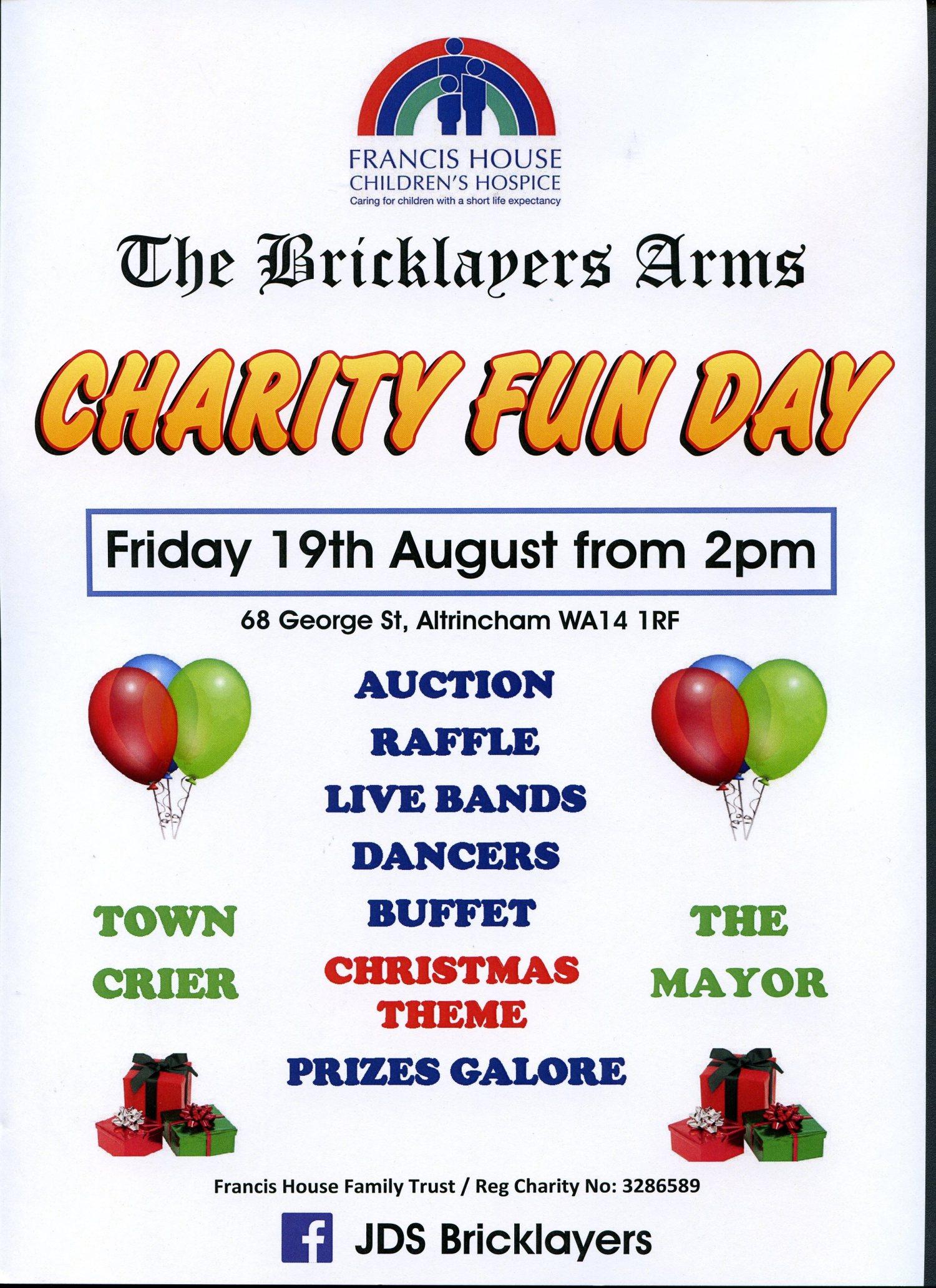 Charity Fun Day 19 Aug 2Pm