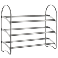 Image of: Chrome 3 Tier Shoe Rack - 10 Pairs