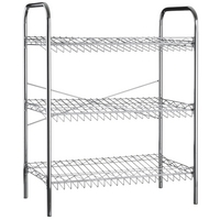 Image of: 3 Tier Metal Shoe Rack - 9 Pairs