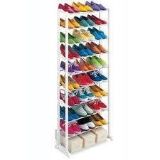 Image of: Standing Shoe Rack 30 Shoe Pairs