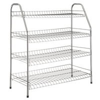 Image of: Metal 4 Tier Shoe Rack - 12 Pairs