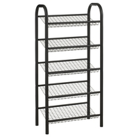 Image of: Black 5 Tier Shoe Rack - 15 Pairs