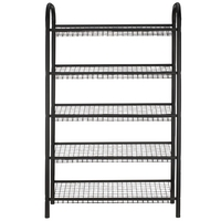 Image of: 5 Tier Black Metal Shoe Rack - 20 Pairs