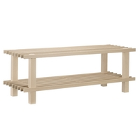 Image of: Beech Wooden 2 Tier Shoe Rack - 10 Pairs