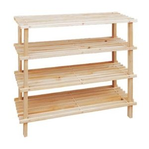 Image of: 16 Pair Wooden Shoe Rack