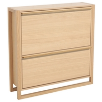 Image of: Oak Shoe Storage Cabinet