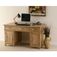 Image of: Large Solid Oak Computer Desk - Newark