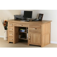 Image of: Large Solid Oak Office Desk - Tokyo