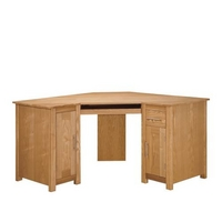 Image of: Oak Computer Corner Desk - Oakleigh
