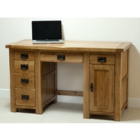 Image of: Rustic Solid Oak Desk