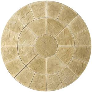 Image of: Abbey Circle Patio Slabs 2.4m (York Gold)