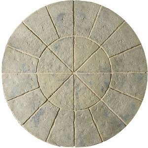 Image of: Minster Circle Patio Slabs 1.8m (Rustic Sage)