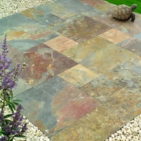Image of: Natural Stone Slate Fusion Patio Kit