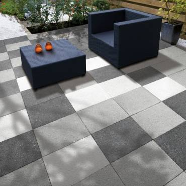 Image of: Patio Paving Slabs - Panache Black Texured - 8.10m2