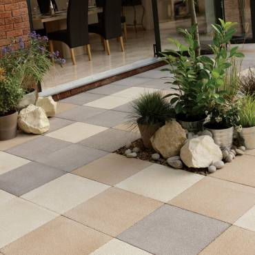 Image of: Patio Paving Slabs - Panache Chocolate Texured - 8.10m2