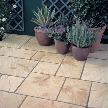 Image of: Patio Slab Pack - Yorkvale Antique Gold - 10.20m2