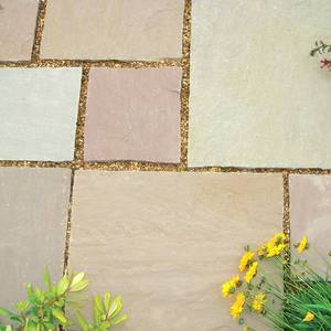 Image of: Natural Patio Slabs Kit 8.23sqm (Tuscany Dawn)