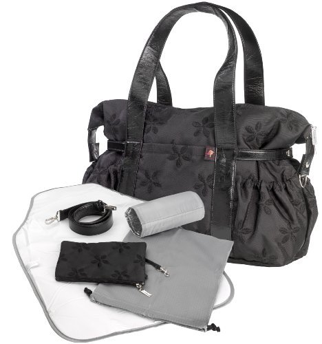 Image of: Baby Changing Shoulder Bag - Black (Tiny Tillia)