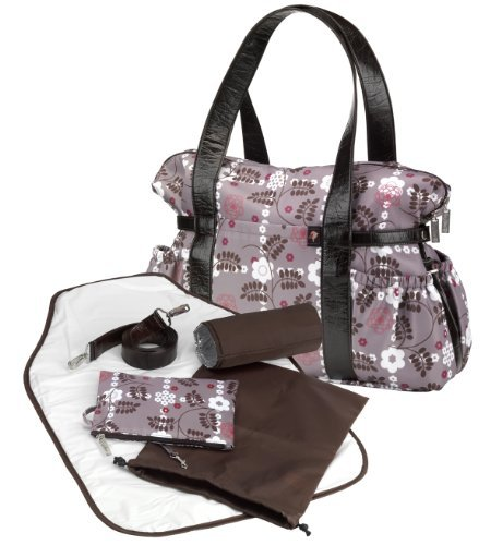 Image of: Baby Changing Shoulder Bag - Brown/Pink (Tiny Tillia)