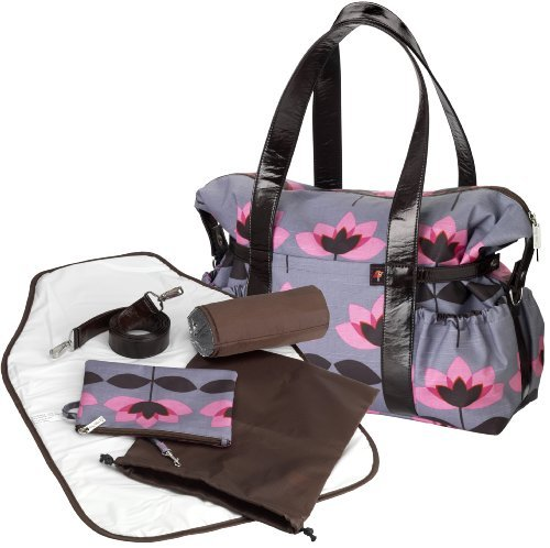 Image of: Tiny Tillia Pink Tulip Designer Baby Changing Bag