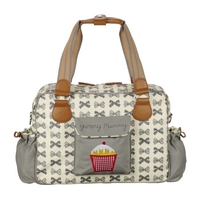 Image of: Yummy Mummy Baby Changing Bag - Bows Grey