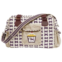 Image of: Yummy Mummy Grape Bows Changing Bag - Pink Lining