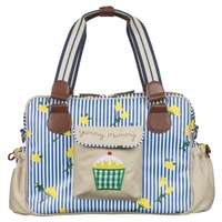 Image of: Yummy Mummy Changing Bag - Blue Stripe Rose