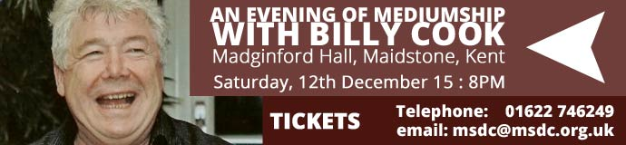 Evening of Mediumship with Billy Cook