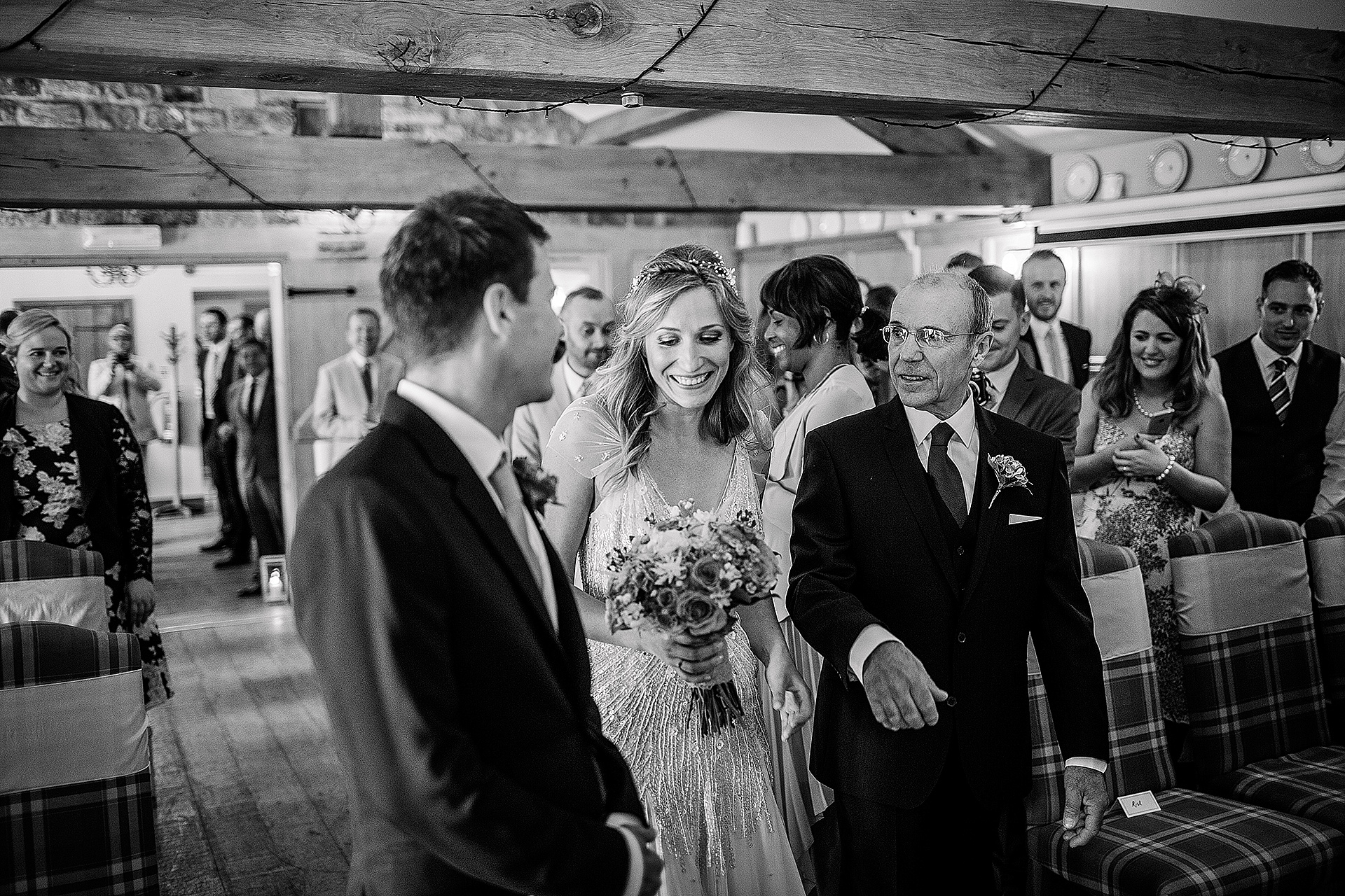 Jenny Packham Dress Getting Married at the Red Lion Wedding in The Yorkshire Dales from John Day Photography