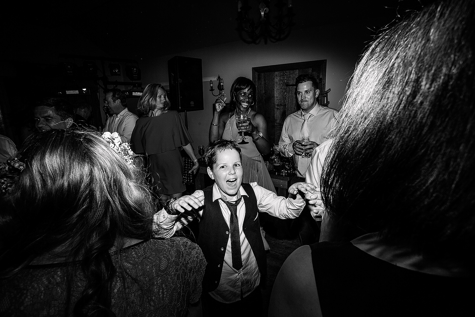Red Lion Wedding in The Yorkshire Dales from John Day Photography fun wedding evening pictures