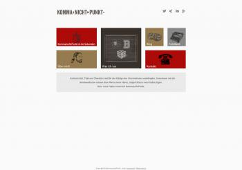 KommanichtPunkt Website