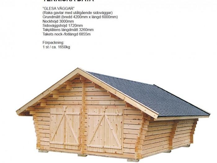 Lada förråd 25,2 m2 glesa väggar
