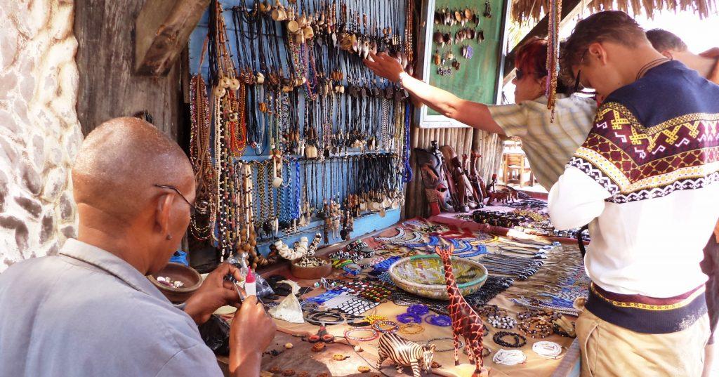 Mombasa beach sellers