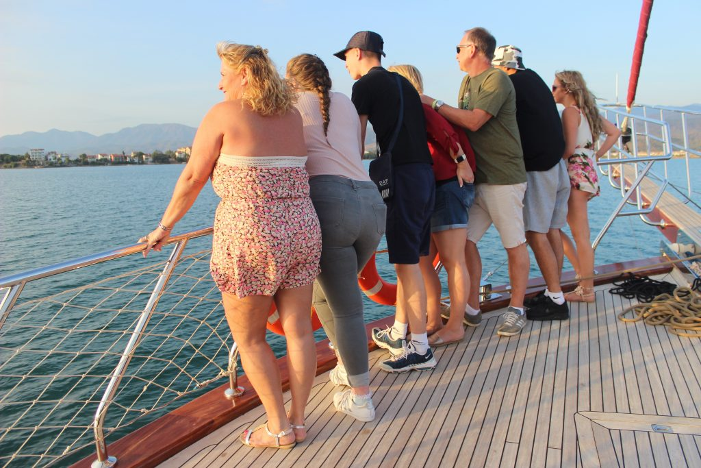 Tourists on Fethiye cruise