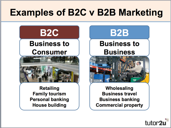 an introduction of the supply chain b2b and b2c Marketing to b2c when you are marketing to a consumer, you want to focus on the benefits of the product their decision is more emotional consumers are different in that they demand a variety of distribution channels for convenience, not so with the b2b market consumers are less likely to be interested in a lengthy marketing message.