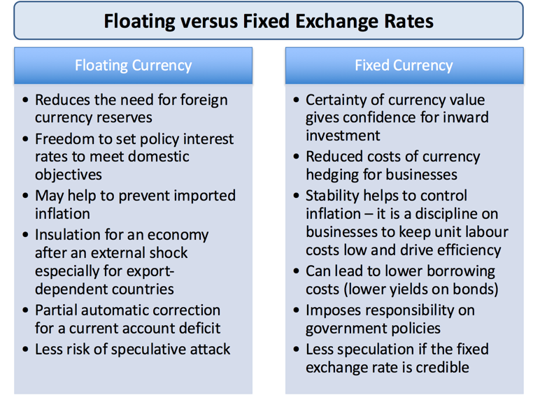 economics exchange rate to the larger countrys currency essay A single currency is when a number of countries join their currencies  efficiency  - a single currency should encourage greater competition as there  elimination  of exchange rate uncertainty - one of the problems with trading  say an  individual country is suffering a downturn in economic activity, but the rest are  booming.