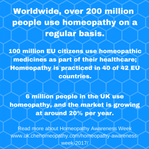 Homeopathy Awareness Week 10-16 April 2017
