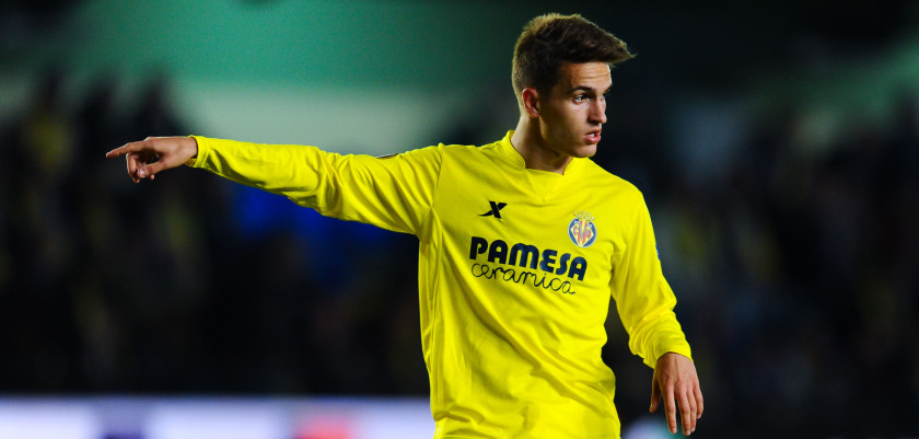 :VILLARREAL, SPAIN - APRIL 28:  Denis Suarez of Villarreal CF reacts during the UEFA Europa League semi final first leg match between Villarreal CF and Liverpool at Estadio El Madrigal on April 28, 2016 in Villarreal, Spain.  (Photo by David Ramos/Getty Images)